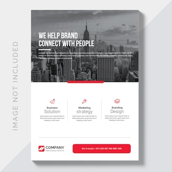 Moderne business flyer designvorlage