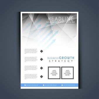 Moderne business-flyer mit grauen polygonformen