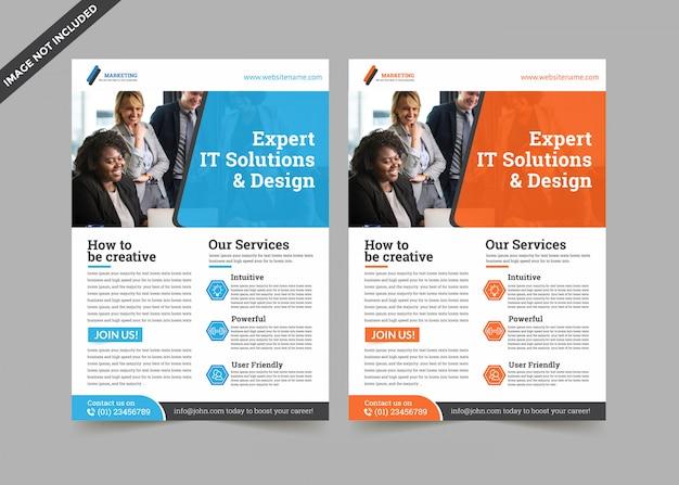 Moderne business flyer premium vorlage