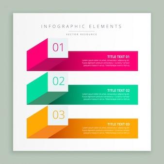 Moderne business-infografik banner