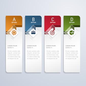 Moderne business-infografik-optionen