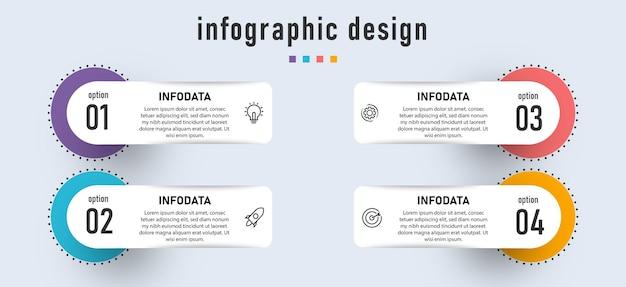 Moderne business-infografik-präsentation