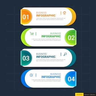 Moderne business-infografik-schritte