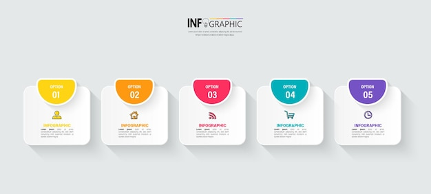 Moderne business-infografik-vorlage