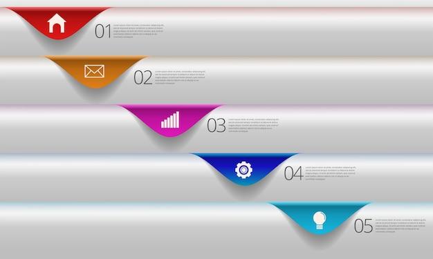 Moderne business-infografik-vorlage.