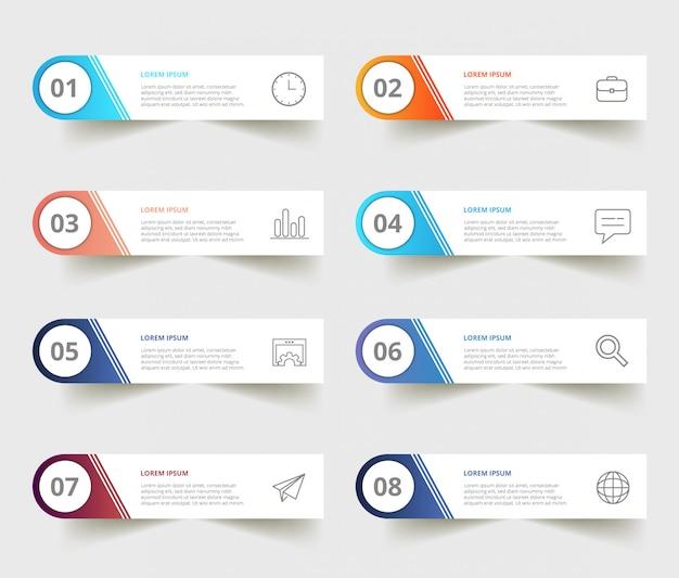 Moderne business-infografiken