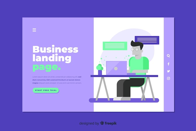 Moderne business-landingpage