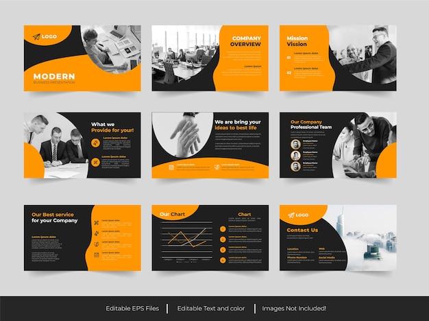 Moderne business-powerpoint-präsentation