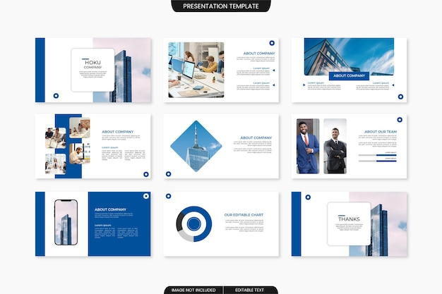 Moderne business-präsentationsvorlage powerpoint