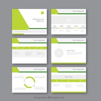 Moderne business-präsentationsvorlage