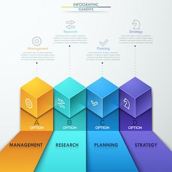 Moderne business-step-optionen