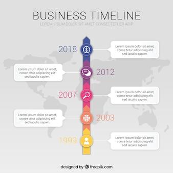 Moderne business-timeline-vorlage
