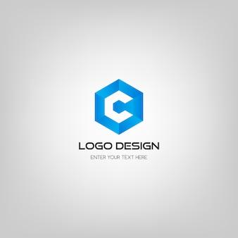 Moderne c-brief-logo-design-vorlage.