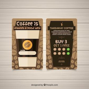 Moderne café-loyalitätskartenschablone
