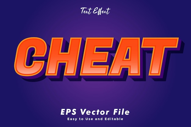 Moderne cheat-texttypografie-effektschablone