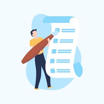 Moderne checklistenillustration