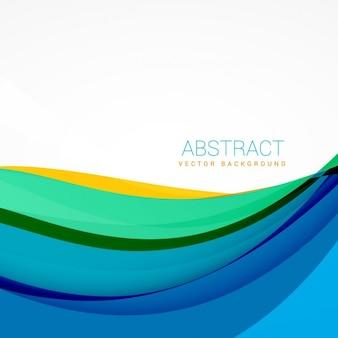 Moderne colorful wellen hintergrund-design