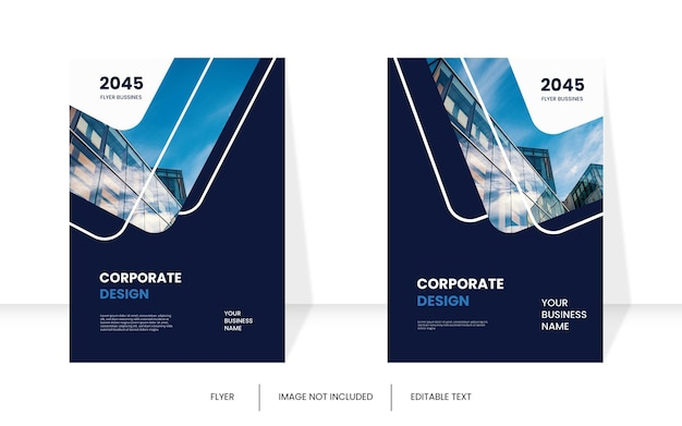 Moderne corporate book cover-vorlage