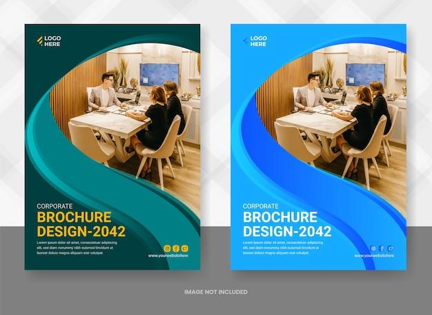 Moderne corporate buchcover-designvorlage