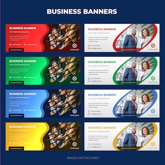 Moderne Corporate Business Banner-Sammlung