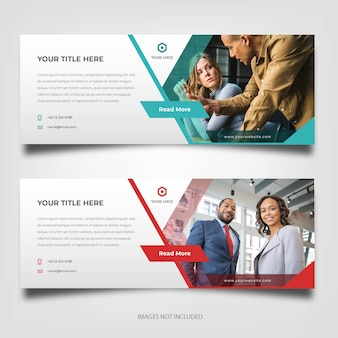 Moderne corporate business banner