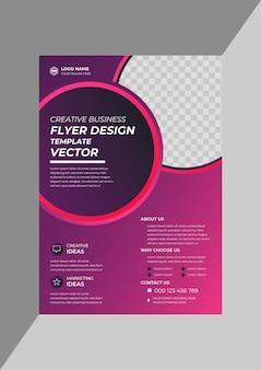 Moderne corporate business flyer designvorlage