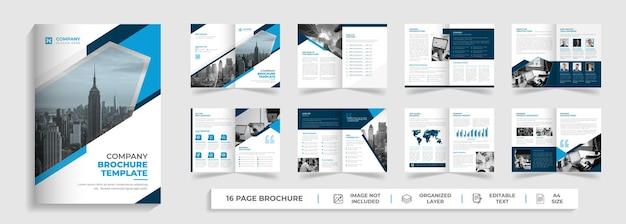 Moderne corporate creative digital business agency 16 seiten mehrseitige broschüre firmenprofil-design