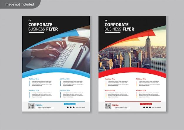 Moderne corporate flyer design vorlage