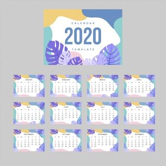 Moderne corporate kalender a4 vorlage