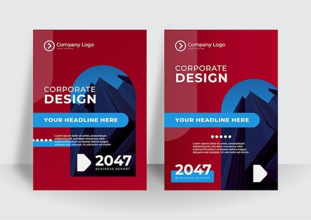 Moderne cover-design-vorlage. vorlage für den jahresbericht oder die buchgestaltung des unternehmens
