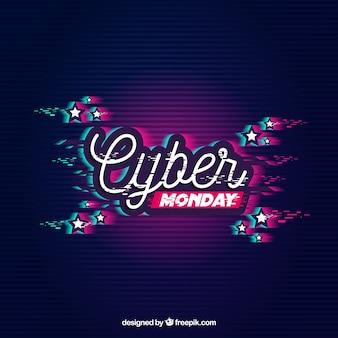 Moderne cyber-montag-zusammensetzung mit neonart