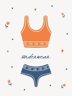 Moderne damenwäsche oder nachtwäsche. hauskleidung.