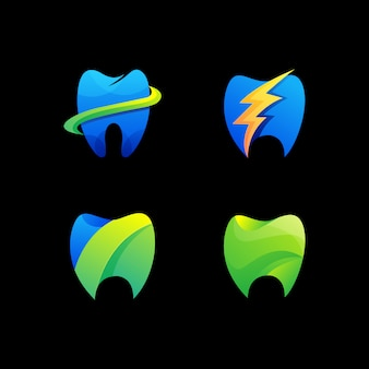 Moderne dental logo schablone
