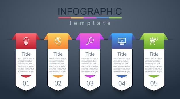 Moderne designvorlagen für die präsentation von marketing- oder geschäftsplanungsinformationen