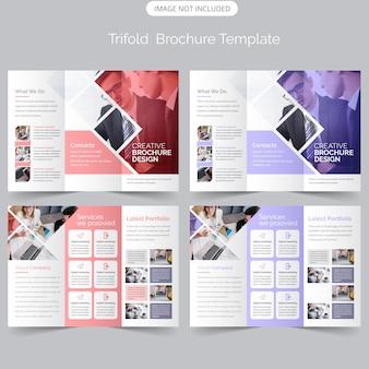 Moderne dreifachgefaltete broschüre