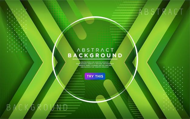 Moderne dynamische linie hintergrund des grüns 3d. abstrakter moderner hintergrund