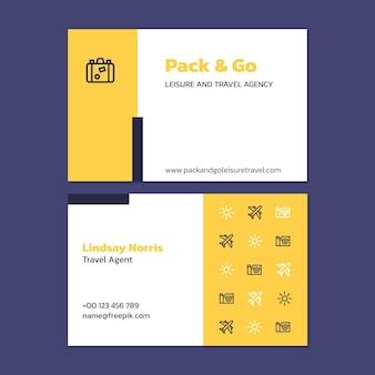 Moderne einfache agent reise visitenkarte