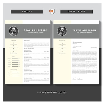 Moderne einfache vorlage für lehrplan und anschreiben
