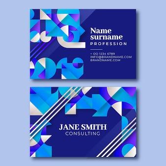 Moderne einfarbige beratungs-visitenkarte