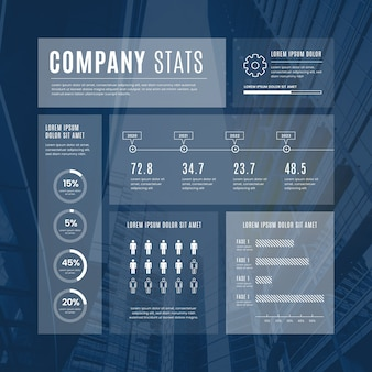 Moderne einfarbige infografik