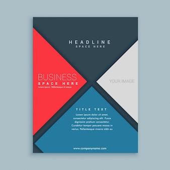 Moderne elegante business-broschüre vorlage