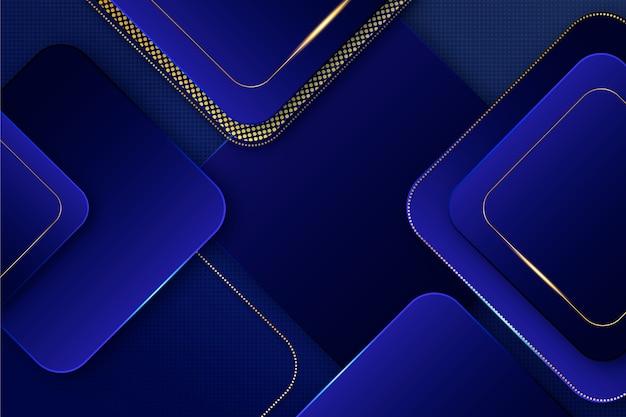 Moderne elegante tapete mit goldenen details