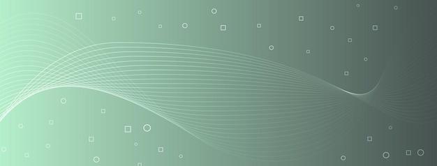 Moderne elegante wellenlinien kurven abstrakte kreise quadrate kühles graues seeschaumgrün