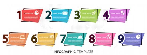 Moderne elemente infografik