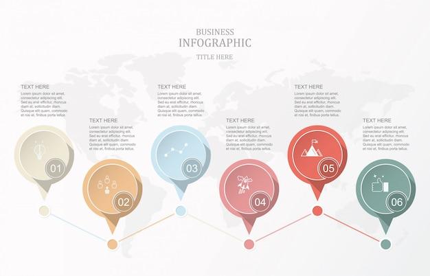 Moderne elementkreise infografik.