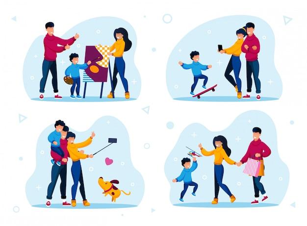 Moderne familienerholungs- und freizeitwohnung