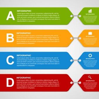 Moderne farbe infografik optionen banner.