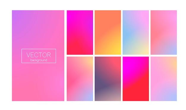 Moderne farbverlauf festgelegt