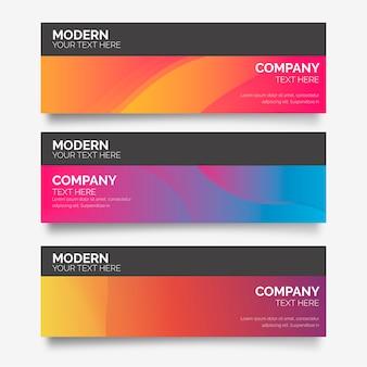 Moderne farbverlaufs-banner-sammlung