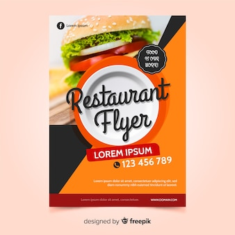Moderne fast-food-restaurant flyer vorlage
